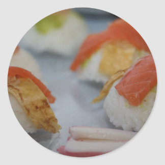 Traditional Japanese Sushi Classic Round Sticker