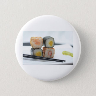 Traditional Japanese Sushi Pinback Button