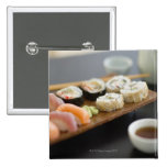 Traditional Japanese sushi Pinback Button