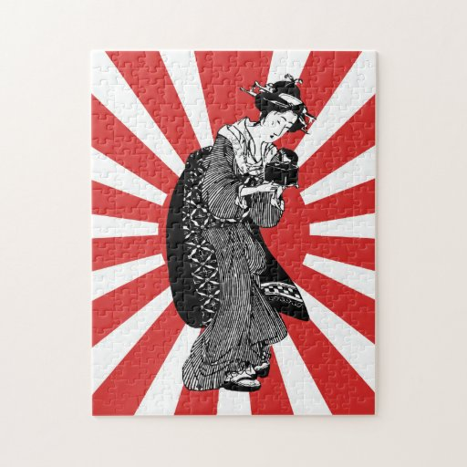 Traditional Japanese ukiyoe woman Puzzle