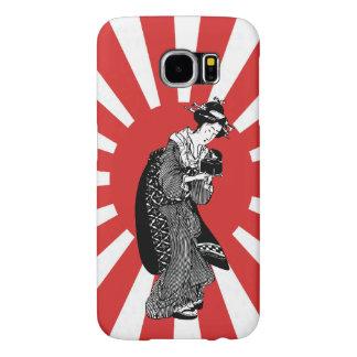 Traditional Japanese ukiyoe woman Samsung Galaxy S6 Cases
