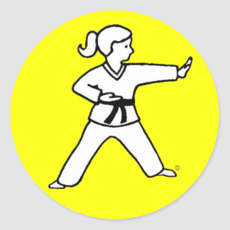 Traditional Karate Kid 4 on yellow stickers