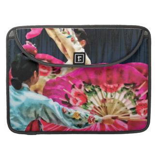 Traditional Korean Fan Dance MacBook Pro Sleeves