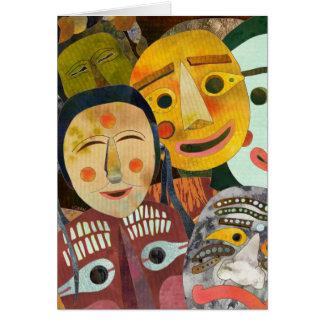 Traditional Korean Masks: Blank Card