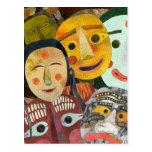 Traditional Korean Masks postcard