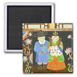Traditional Korean Wedding Unique Gift Magnet