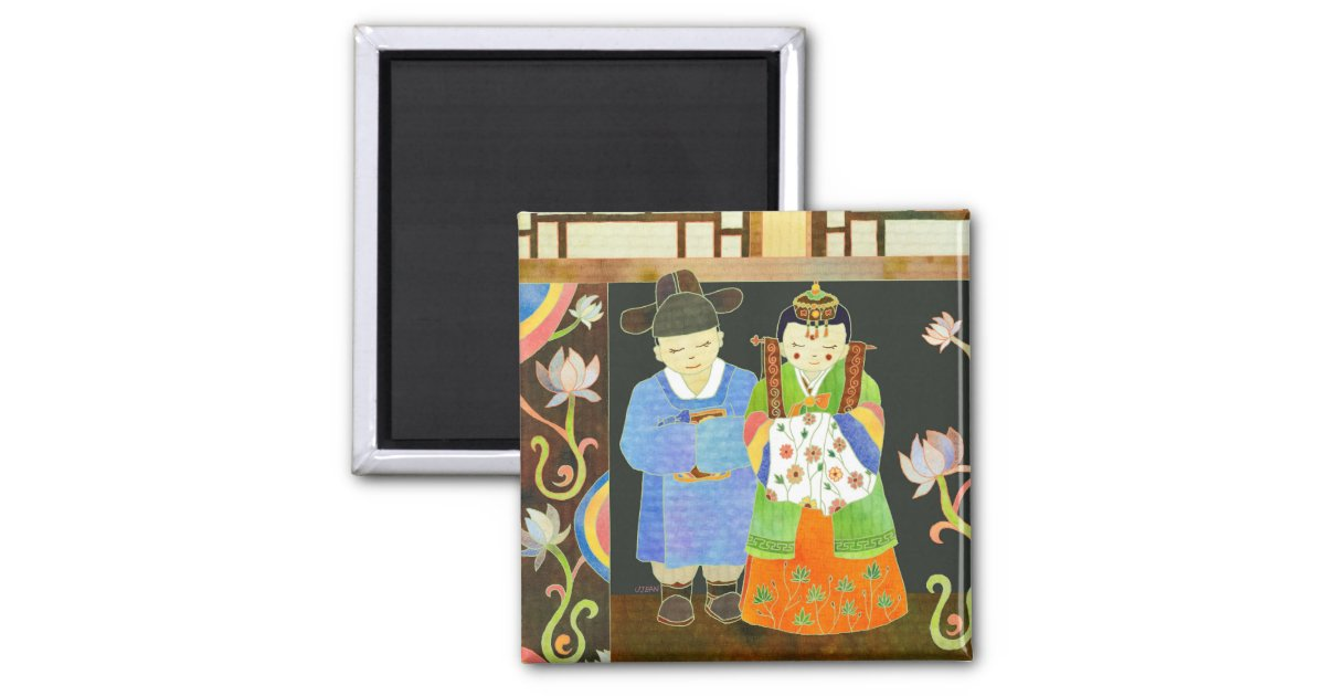 Traditional Korean Wedding Gifts: Traditional Korean Wedding: Unique Wedding Gift Magnet