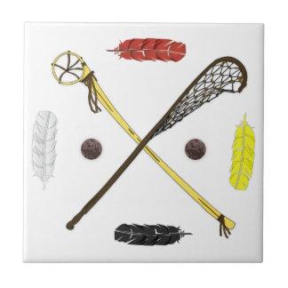 Traditional Lacrosse sticks Ceramic Tile