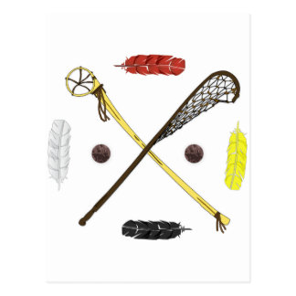 Traditional Lacrosse sticks Post Card