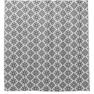Traditional Latvian Design pattern Shower curtain