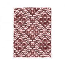 Traditional Latvian Red Design pattern Auseklis Fleece Blanket