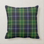 "Traditional MacKellar Clan Tartan Plaid Throw Pillow<br><div class=""desc"">Scottish plaid pillow done in the blue,  green,  red,  and white MacKellar tartan plaid pattern.  Customize to add any text you want.  Handsome accent throw pillow with a classic pattern and monogram.</div>"