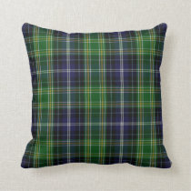 Traditional MacKellar Clan Tartan Plaid Throw Pillow
