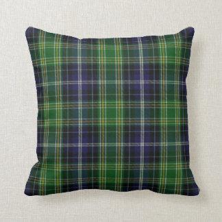 Traditional MacKellar Clan Tartan Plaid Throw Pillow