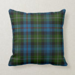 "Traditional MacKenzie Tartan Plaid Pillow<br><div class=""desc"">Great looking green,  blue,  and red tartan plaid accent pillow,  done in the MacKenzie family pattern. Adds a stylish touch to any room of the house or office. Customize to add text.  Makes a great gift idea.</div>"