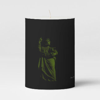Traditional Maltese Statue Pillar Candle