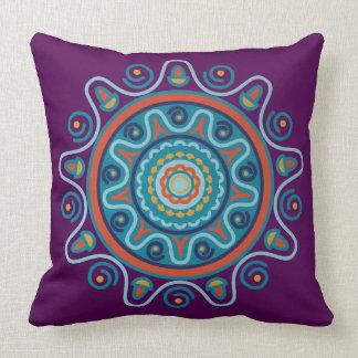 Traditional Mandana - Indian Art Throw Pillow