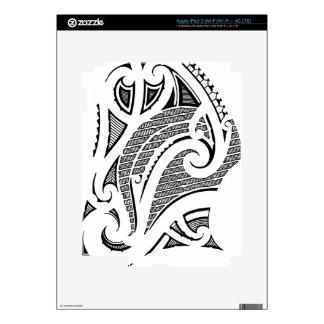 Traditional Maori style design iPad 3 Decals