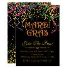 Traditional Mardi Gras Invitations