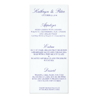 Traditional Marine Menu Card