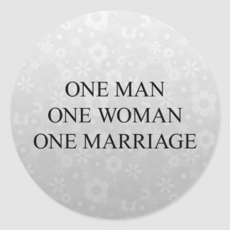 Traditional Marriage Classic Round Sticker