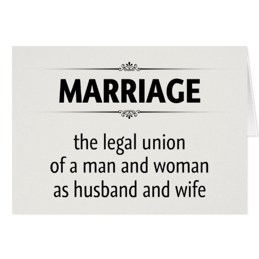 Traditional Marriage Greeting Card