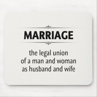 Traditional Marriage Mouse Pad