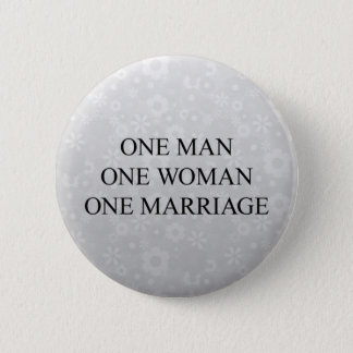 Traditional Marriage Pinback Button