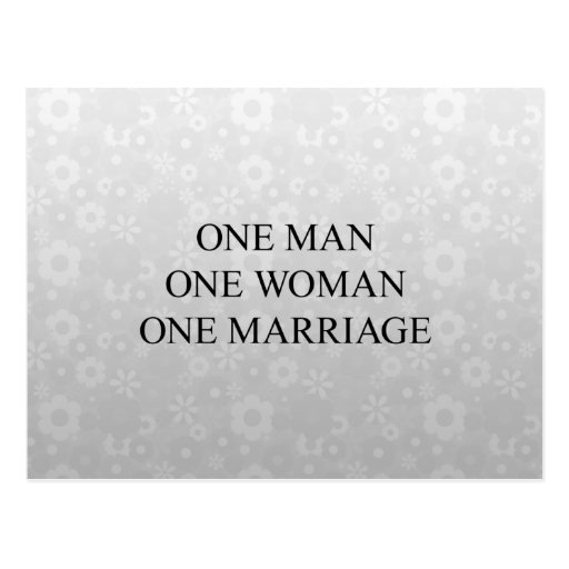 Traditional Marriage Postcards