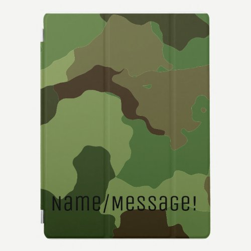 Traditional military camouflage iPad pro cover