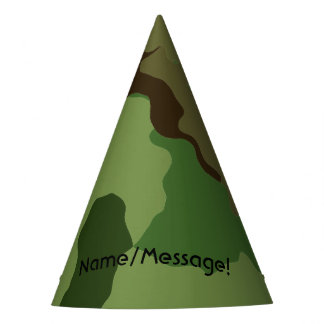 Traditional military camouflage party hat