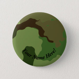 Traditional military camouflage. pinback button