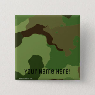 Traditional military camouflage pinback button
