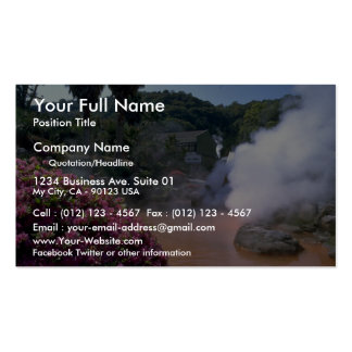 Traditional mineral water bath, Bephu, Japan Business Card