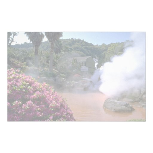 Traditional mineral water bath, Bephu, Japan Personalized Stationery