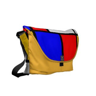 Traditional Mondrian Messenger Bag