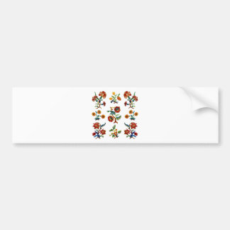 Traditional Monmouth Jacobean Embroidery Bumper Sticker