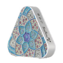Traditional Moroccan turquoise Blue, white, salmon Bluetooth Speaker