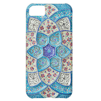 Traditional Moroccan turquoise Blue, white, salmon Case For iPhone 5C