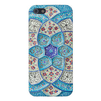 Traditional Moroccan turquoise Blue, white, salmon Cover For iPhone SE/5/5s