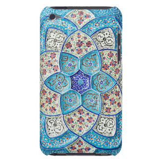 Traditional Moroccan turquoise Blue, white, salmon iPod Touch Case-Mate Case