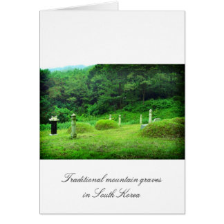 Traditional mountain graves in South Korea Card