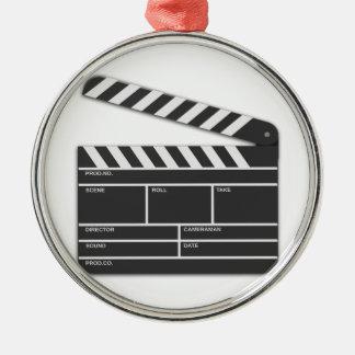 Traditional Movie Clapper-Board Metal Ornament