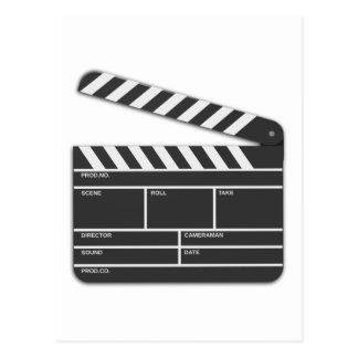 Traditional Movie Clapper-Board Postcard