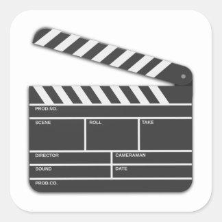 Traditional Movie Clapper-Board Square Sticker