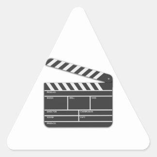 Traditional Movie Clapper-Board Triangle Sticker