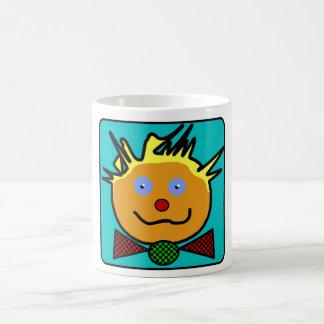 "Traditional Mug small size, white, ""Clown """