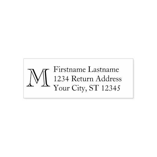 Christmas Return Address Stamp