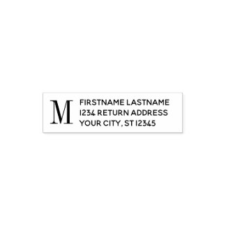 Traditional Name & Return Address - Monogram Self-inking Stamp