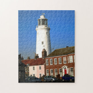 traditional old lighthouse in English coastal town Jigsaw Puzzle